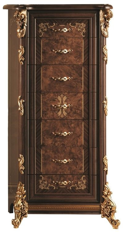 Arredoclassic Sinfonia Walnut Italian 7 Drawer Chest