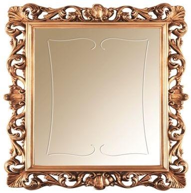 Arredoclassic Sinfonia Walnut Italian Golden Rectangular Small Mirror