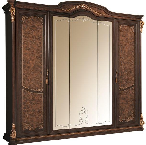 Arredoclassic Sinfonia Walnut Italian 5 Door Wardrobe