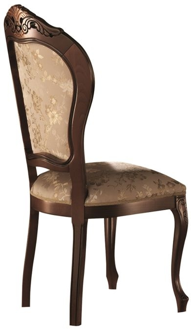 Arredoclassic Sinfonia Walnut Italian Fabric Dining Chair (Pair)