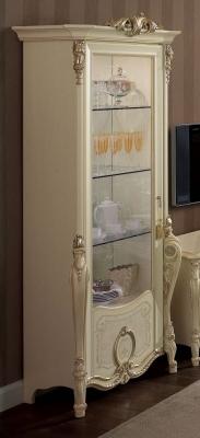 Arredoclassic Tiziano Silver Italian 1 Glass Door Display Cabinet