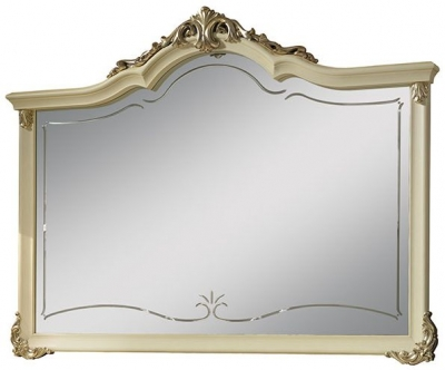 Arredoclassic Tiziano Silver Italian Arch Large Mirror