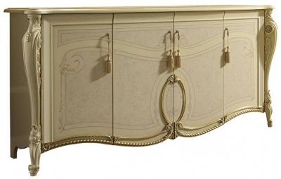 Arredoclassic Tiziano Silver Italian 4 Door Wide Sideboard
