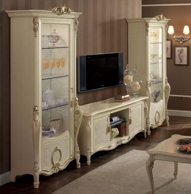 Arredoclassic Tiziano Silver Italian 4 Door TV Composition