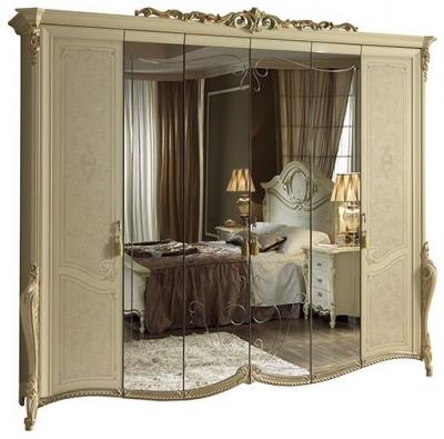 Arredoclassic Tiziano Silver Italian 6 Door Wardrobe