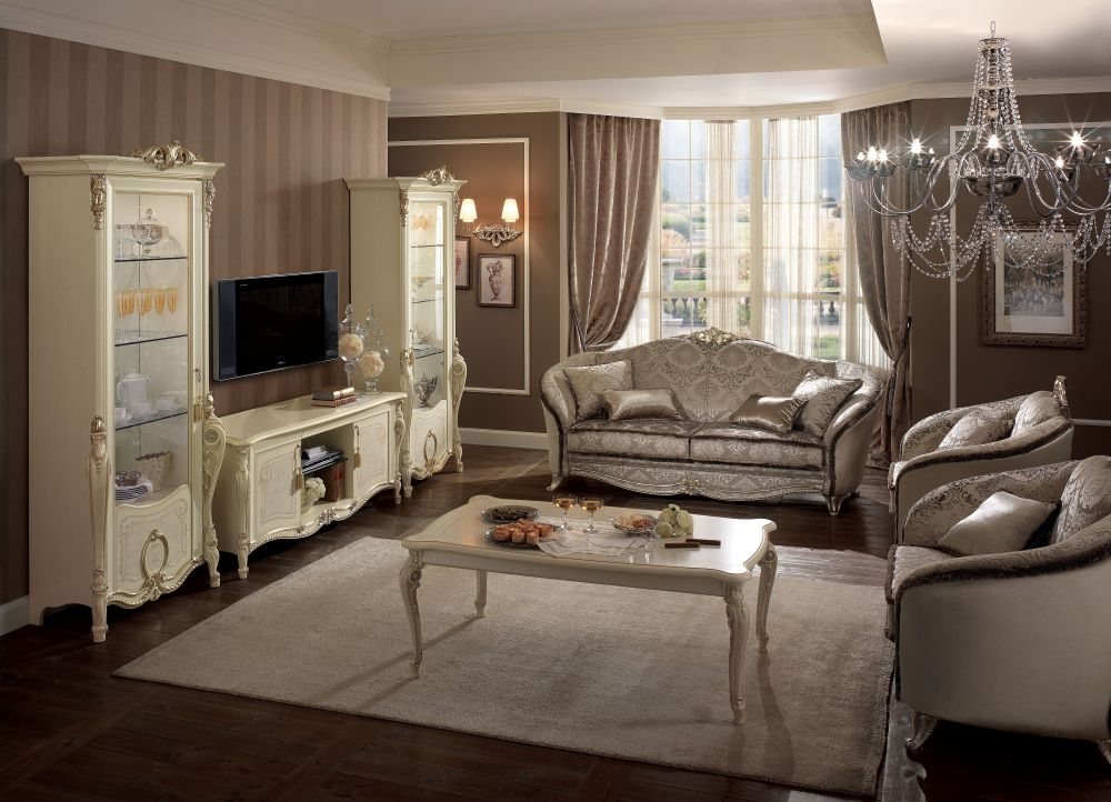 Arredoclassic Tiziano Italian 3+1+1 Seater Fabric Sofa Suit