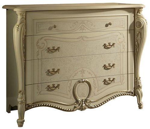 Arredoclassic Tiziano Silver Italian 4 Drawer Dresser