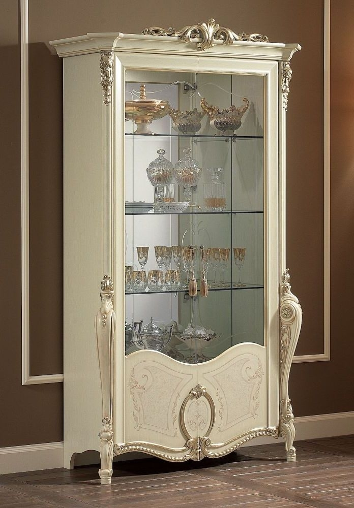 Arredoclassic Tiziano Silver Italian Glass Display Cabinet  - 2 Door