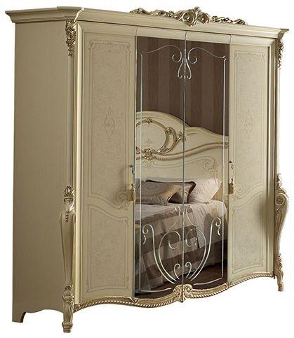 Arredoclassic Tiziano Silver Italian Wardrobe - 4 Door