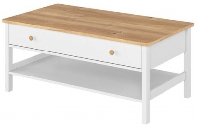 Bridgeport White and Oak Coffee Table