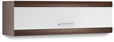 Cabrini Oak and White High Gloss Wall Hanging Cabinet