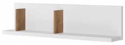 Emily Natural and White Wall Shelf