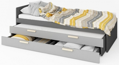 Florence Graphite Bed with Trundle