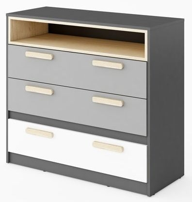 Florence Graphite 3 Drawer Chest