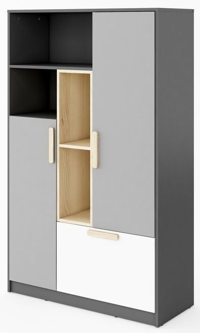 Florence Graphite Large Cabinet