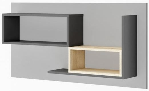 Florence Graphite Panel with Shelves