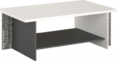 Harry White and Graphite Coffee Table