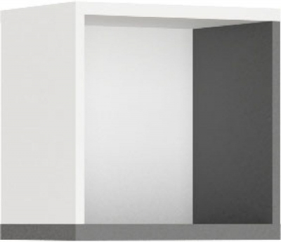 Harry White and Graphite Wall Hung Shelf