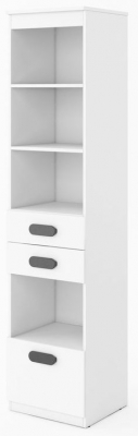 Rosie White High Gloss Tall Display Cabinet