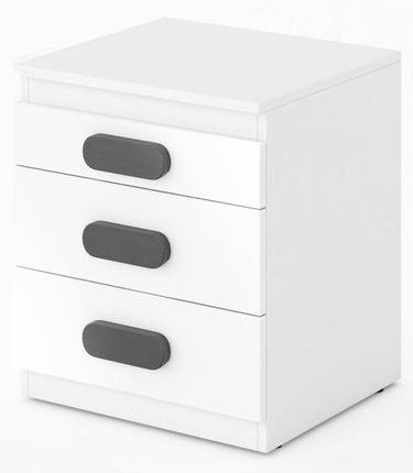 Rosie White High Gloss Bedside Cabinet