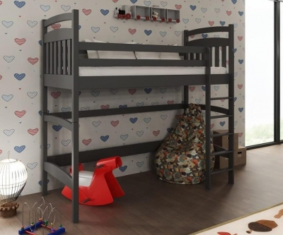 Tulare Graphite Wooden Bunk Bed