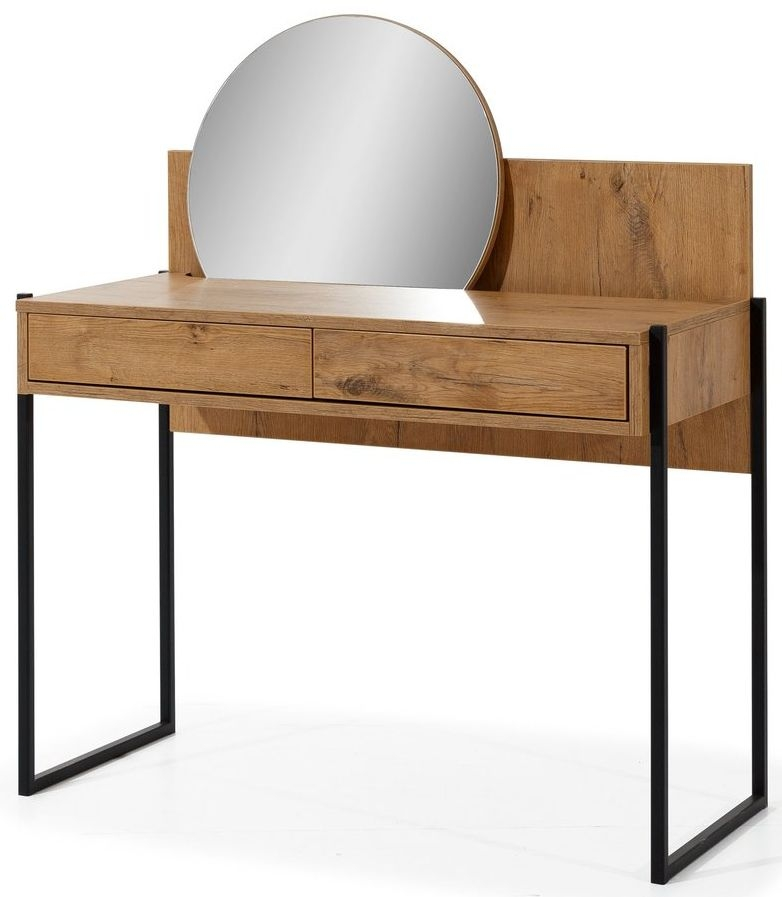 Tulare Lancelot Oak Dressing Table with Mirror