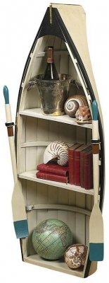 Authentic Models Dory Book Shelf Table with Glass