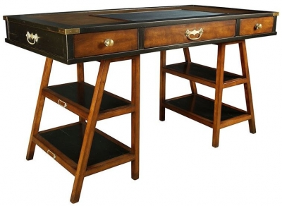 Authentic Models Black Navigators Desk
