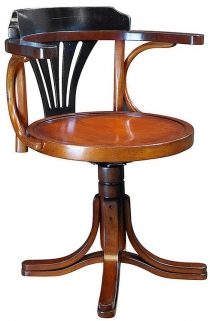 Authentic Models Black and Honey Pursers Chair