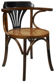 Authentic Models Black and Honey Navy Chair