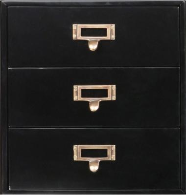 Authentic Models Endless Regency 3 Drawer Black Insert Box - MF236