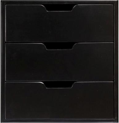 Authentic Models Endless Regency 3 Drawer Black Insert Box - MF240