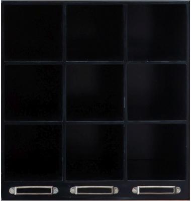 Authentic Models Endless Regency Black Insert Wine Rack Box - MF234