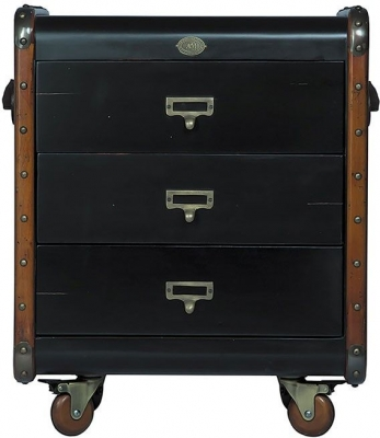 Authentic Models Stateroom Black 3 Drawers Chest