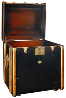 Authentic Models Stateroom Black Trunk End Table