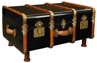 Authentic Models Stateroom Black Trunk Table