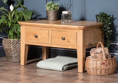 Addison Natural Oak 2 Drawer Coffee Table