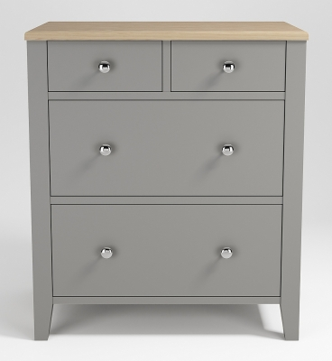 Westcote Oak and Grey Painted 2+2 Drawer Large Chest