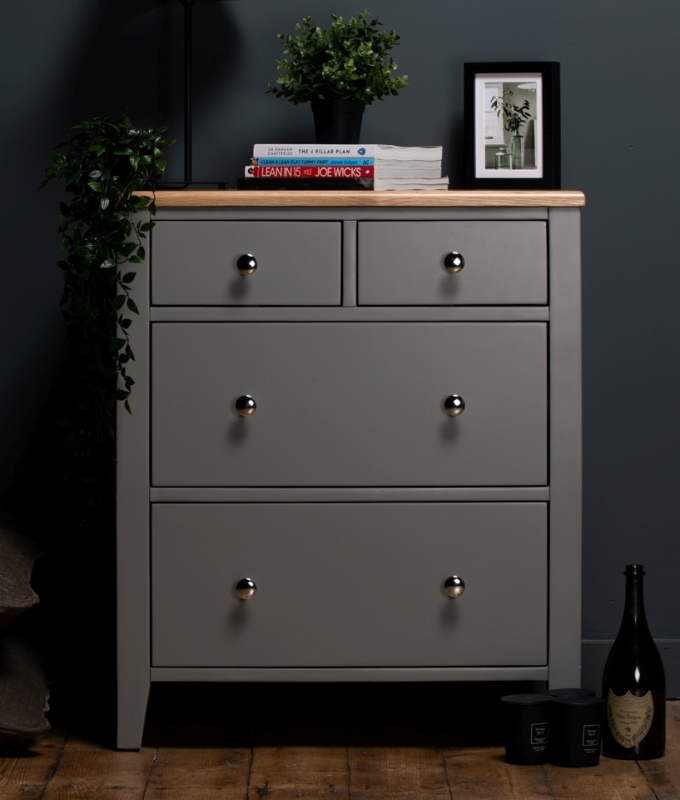 Westcote Oak and Grey Painted 2+2 Drawer Chest