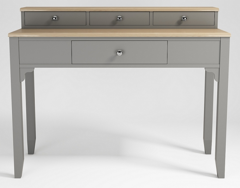 Westcote Oak and Grey Painted 4 Drawer Dressing Table