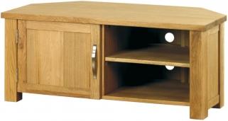 Baumhaus Aston Oak Corner Television Cabinet