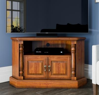 Baumhaus La Reine Mahogany Corner TV Cabinet