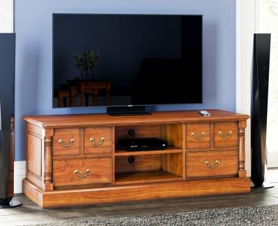 Baumhaus La Reine Mahogany Widescreen TV Cabinet