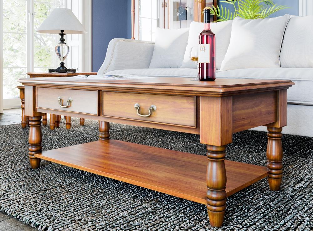 Baumhaus La Reine Mahogany 4 Drawer Coffee Table