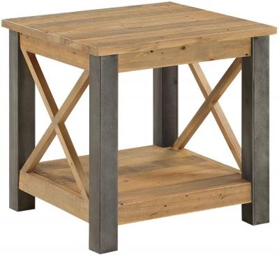 Baumhaus Urban Elegance Reclaimed Wood Lamp Table