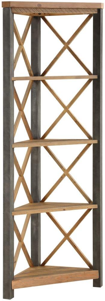 Baumhaus Urban Elegance Reclaimed Wood Large Corner Bookcase