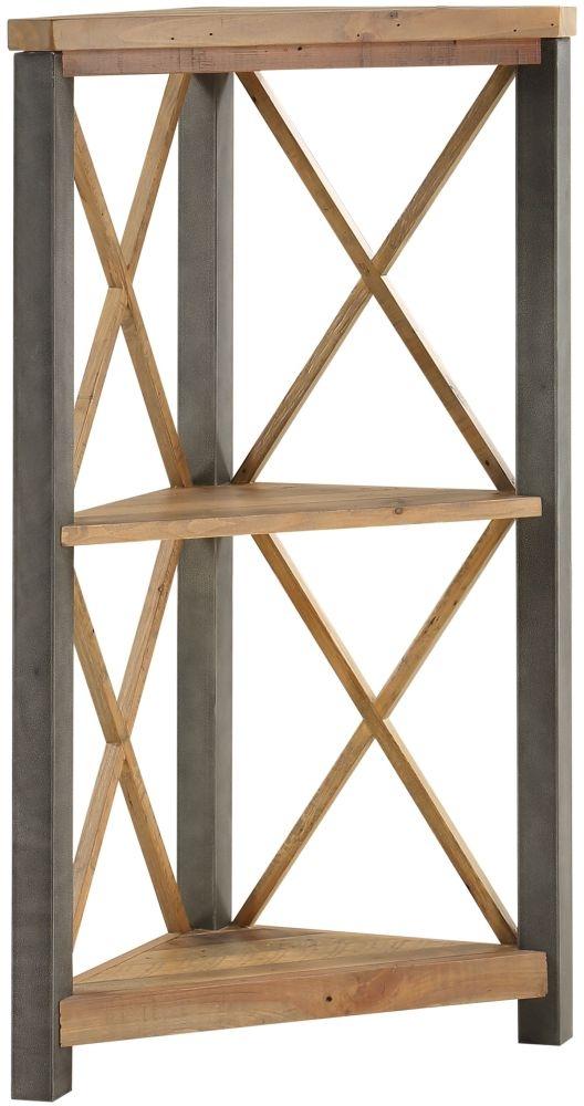 Baumhaus Urban Elegance Reclaimed Wood Small Corner Bookcase