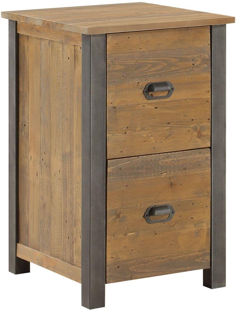 Baumhaus Urban Elegance Reclaimed Wood Two Drawer Filing Cabinet