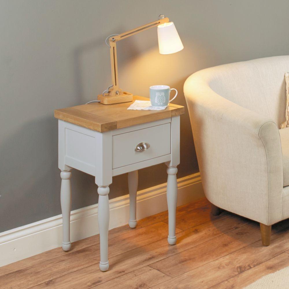 Baumhaus Chadwick Grey Painted Lamp Table