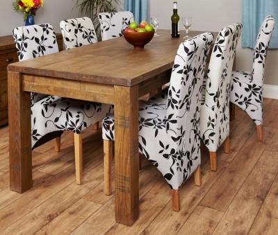 Baumhaus Heyford Rough Sawn Oak Dining Table - 4-8 Seater Extending